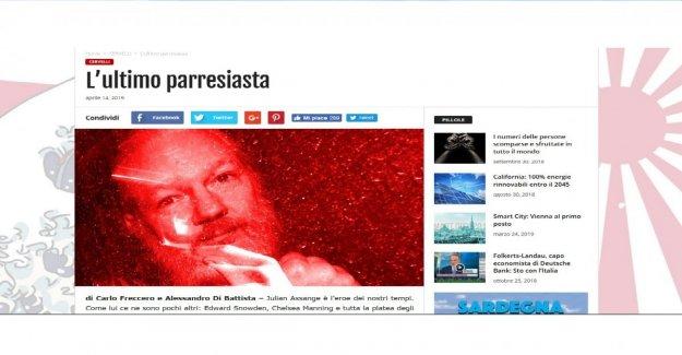 En el blog de Cricket Freccero y la De juan el Bautista, en defensa de Assange