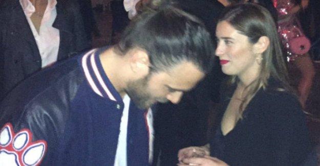 Maria Elena Bosques, en el Salone del Mobile con el actor Giulio Berruti