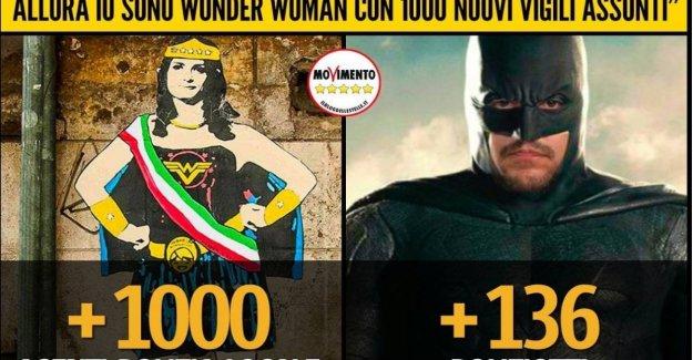 Roma, el choque de los Rayos Salvini se convierte en la historieta: la Mujer Maravilla vs Batman. Pd: Los verdaderos superhéroes son los romanos