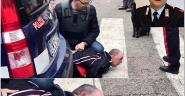 Salvini publicar la foto de la detención del asesino de la policía: no se salgan de la cárcel