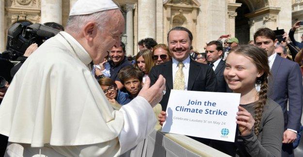 Viernes para el futuro, en Roma, el Papa Francisco se reúne Greta: Ir por delante