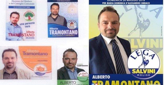 La ciudad de Campobasso, el candidato es un transformista: cinco para las diferentes partes en quince años