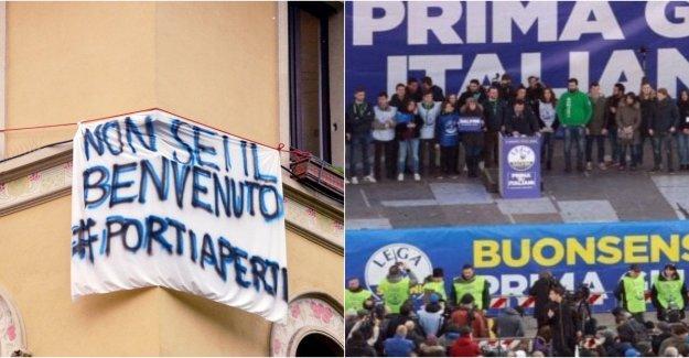 La doble plaza de Milán: el sovranisti de Salvini y pancartas de protesta, 600 agentes implementados para la seguridad