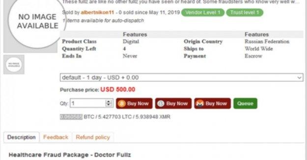 De 500 a unos pocos dólares: aquí está lo valioso de los datos de salud en las ventas en la oscuridad de la web