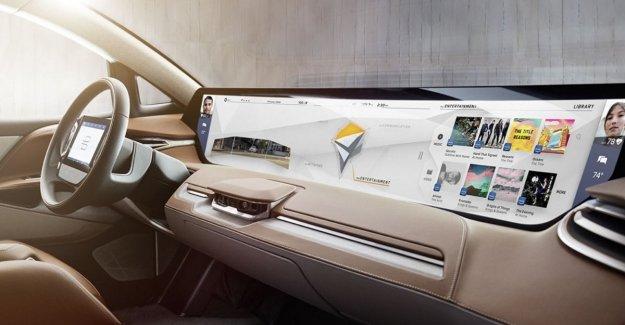 El Maxi pantalla en el coche: es tan grande como 24 smartphone
