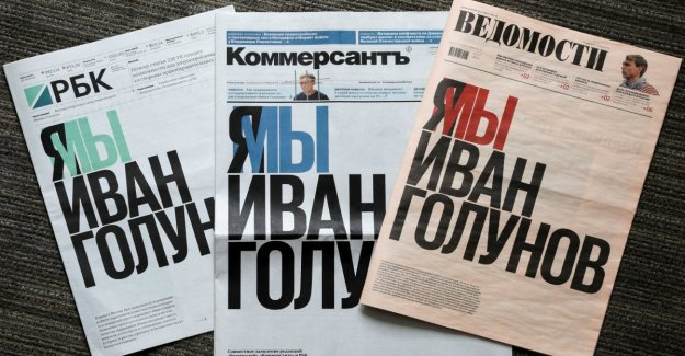 Rusia, los tres principales periódicos en contra de la detención de la periodista Golunov