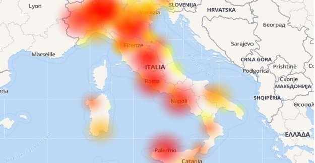 Vodafone Down, problemas a la red en el conjunto de Italia