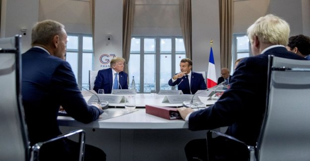 G7, Trump y Macron casi amigos