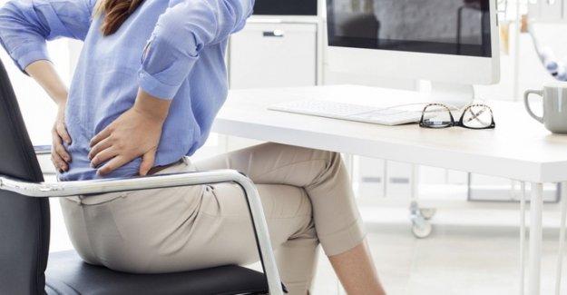 Permanecer sentado por un tiempo no viene el dolor de espalda