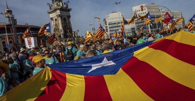 Barcelona, la independentista de los catalanes están de vuelta en la plaza hay más de 600 mil, menos que en el 2018