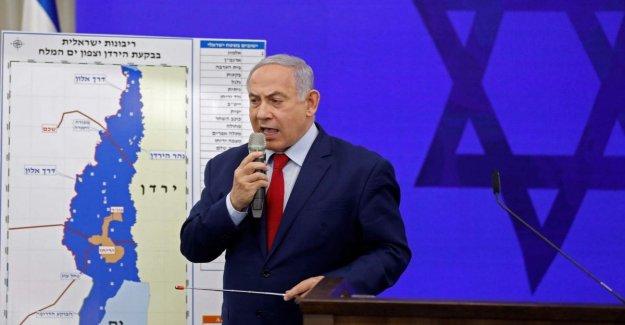 El medio Oriente, Netanyahu está proponiendo anexo el Valle del Jordán. Protestaban contra los Países árabes