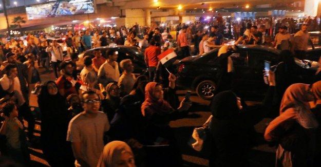 En egipto, las protestas en la plaza Tahrir contra el presidente Sisi. Numerosas detenciones