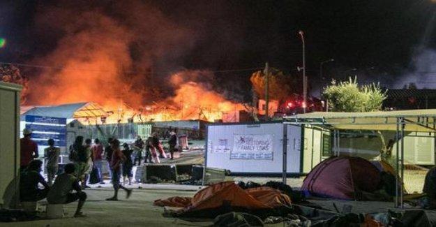Grecia, el fuego en la isla de Lesbos: Esto no es Europa, es el infierno