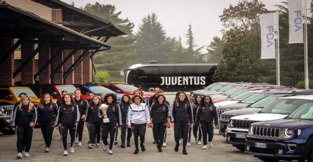 Los campeones de la Juventus? Al volante del Jeep