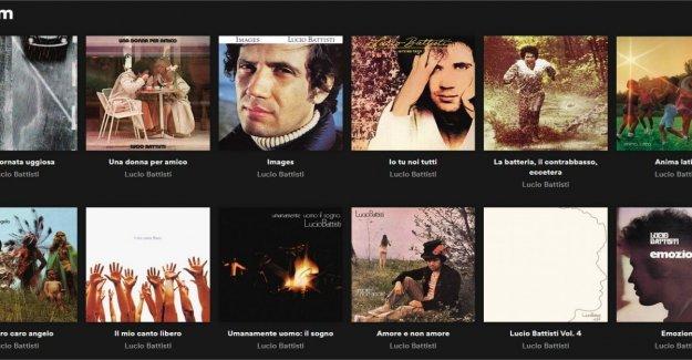 Lucio Battisti, '29 septiembre' el más escuchado en Spotify y el seguidor de la pluma