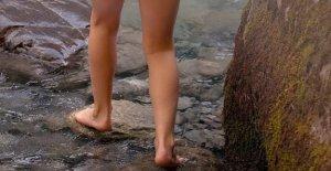 Descalzo en el bosque: el parque de la terapia para eliminar el estrés