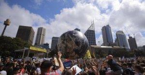 El clima, Australia, el inicio de la jornada de la huelga mundial