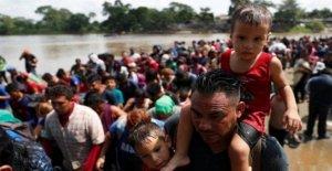México, solicitantes de asilo en los...