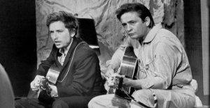 Bob Dylan y Johnny Cash, en un cuadro de la historia de su colaboración