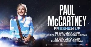 Paul McCartney anuncia dos fechas en Italia en el año 2020 en Nápoles y Lucca