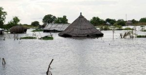 Sudán del sur, el agua se ha tragado hasta pueblos enteros: afectado a casi un millón de personas