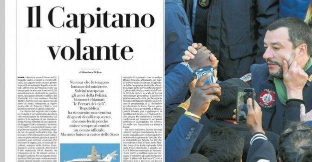 Fuentes de M5S: Salvini explique el uso del Estado de los vuelos para las elecciones. Pero él responde: Uno de los ministros del interior de costo menos