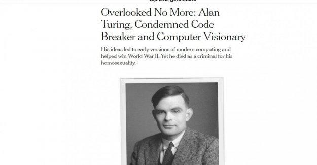 Nyt: a partir de los 65 años, el homenaje a Alan Turing, el genio matemático perseguidos por la homosexualidad