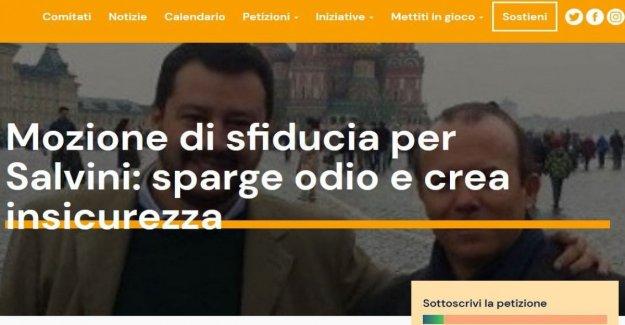 La desconfianza de Salvini, los Comités cívicos de lanzamiento de la petición en línea: Renzi, peticionario,