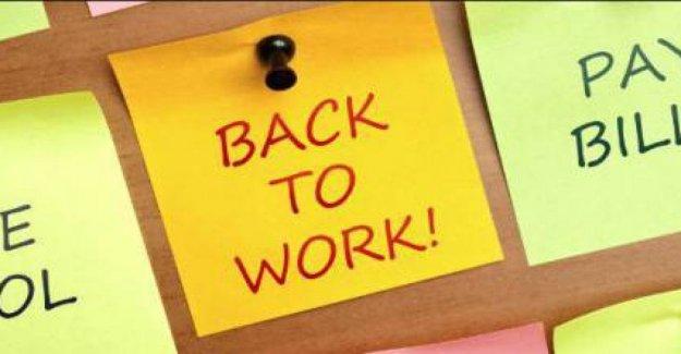 Volver a trabajar, cómo aprovechar el 'stock' de energía y buen humor