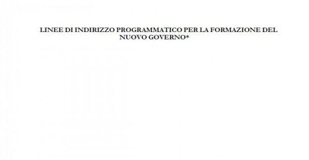 En línea con el proyecto de los 26 puntos del programa de gobierno M5s-Ep