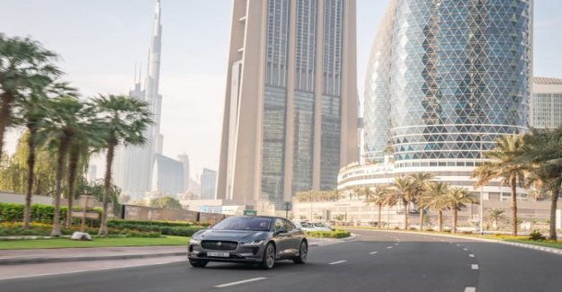 Autónoma de la guía, el Jaguar está probando en Dubai