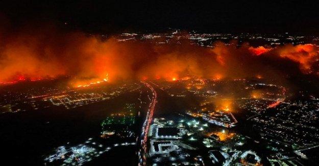 California, en la alerta para el fuego: un muerto en Los Angeles, 100 mil evacuados. Policía: Salir de las zonas en riesgo