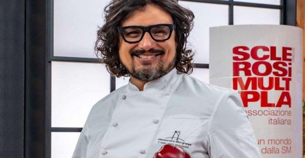 El Chef Alessandro Borghese, y una manzana. El reto de la esclerosis múltiple