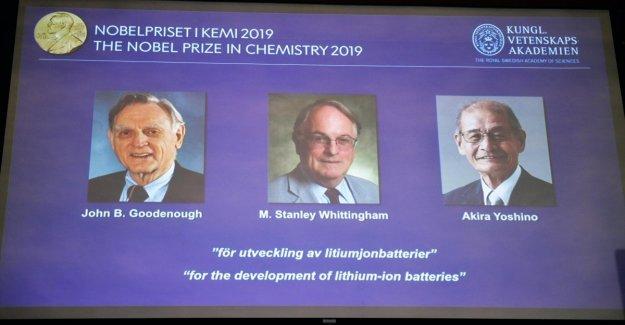 El premio Nobel de Química a John Goodenough, Stanley Whittingham, y Akira Yoshino para la invención de las baterías