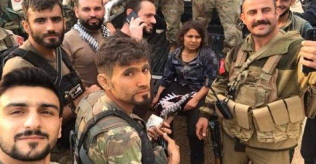 Un video de guardar el luchador de los kurdos, pero permanece en las manos de las milicias y la internacional