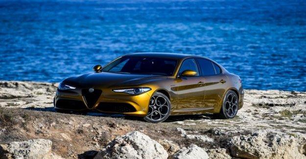 Coche deportivo, el Premio Alfa Giulia en el podio