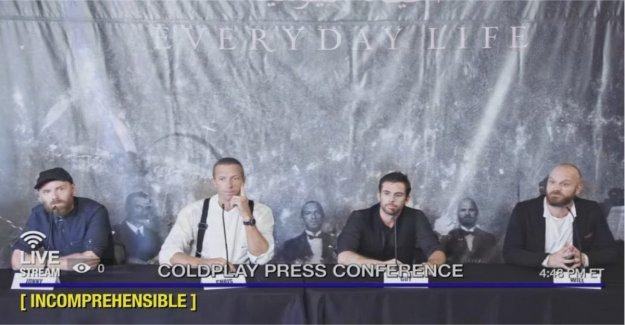 Coldplay, el nuevo álbum en vivo en la transmisión en vivo en YouTube