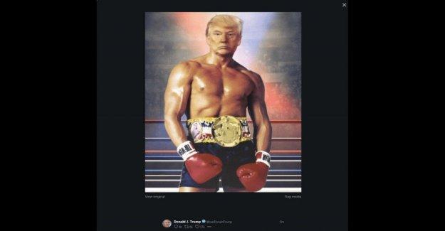 Estados unidos, Trump tweet auto-retrato de la versión de Rocky: la ironía de sociales