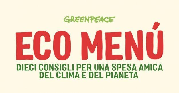 La eco-menú de Greenpeace por los siguientes 10 consejos para ir de compras eco-friendly