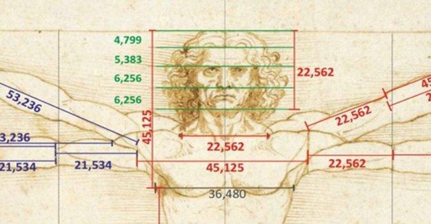 El secreto de el Hombre de Vitruvio es en el algoritmo de la Divina proporción