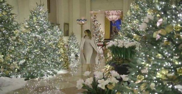 Estados unidos, la Navidad patriótica por Melania Trump en la Casa Blanca