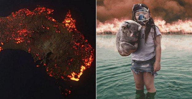 Australia en llamas, visto desde lo social, entre la imagen y el falso y en la necesidad de la redención