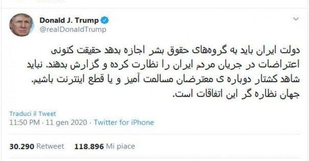 Estados unidos, el tweet de Triunfo en farsi para los estudiantes iraníes: Inspirado por su valentía.