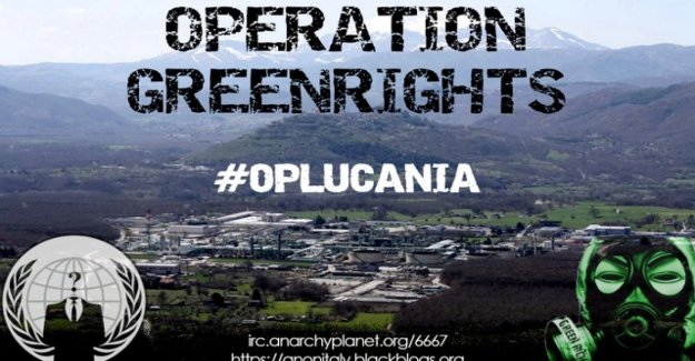 Anónimo, los sitios, los lucanos bajo ataque: cyberprotesta contra los sinfines