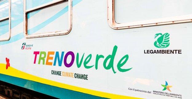 De nuevo el Tren Verde de Legambiente, dedicada al cambio climático,