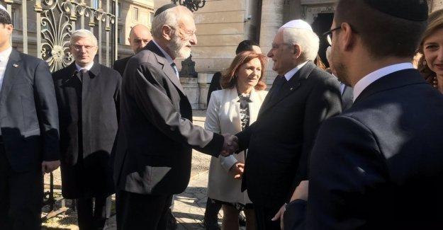 El presidente Mattarella, en la sinagoga, y contribución judía, la más alta en la historia de Italia