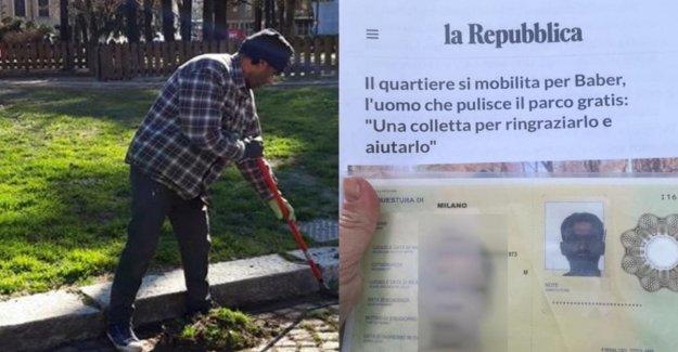 La victoria de la vecindad para Baber: permiso de residencia temporal para los migrantes que limpia el parque