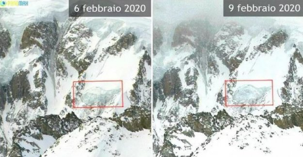 Mont Blanc, separar 120 mil metros cúbicos de hielo de la seracco Gendarme Rouge