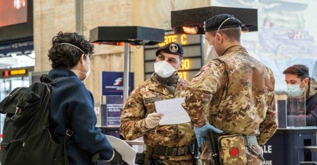 Coronavirus, detener, total recorrido por el Municipio en el que se encuentra. Viajeros que se dirigen hacia el Sur atascado en la estación de tren de Milán