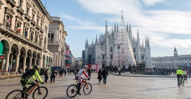 El clima en Milán temperatura promedio de 8 grados fue el invierno más cálido de los últimos 123 años